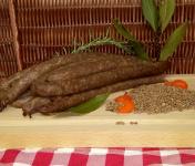 Ferme du caroire - Saucisses de Chèvre et Bœuf Fumées Fines (x12)