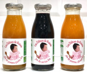 Les délices de Noémie - Assortiment Jus de Pomme Pêche Bio, Cerise Bio, Pomme Abricot Bio