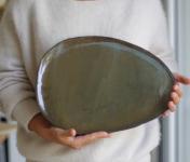 Atelier Eva Dejeanty - [Précommande] Assiette en céramique (grès) modèle Cellule Taille L