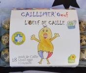 Cailles de Chanteloup - LOT 18 Caillimer'oeuf (l'oeuf De Caille Bleu-blanc-coeur) + 1 rillettes de caille 90 gr