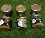 Pisciculture des eaux de l'Inval - 3 Terrines 90 Gr (piment D'espelette, Cremeux Esturgeon, Olive Noire)