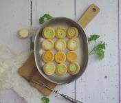 Limero l'Escargot Mayennais - Lot De 5 Assiettes De 12 Mini Bouchées D'escargots Gros Gris Garnies Aux 3 Beurres