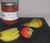 La Ferme du Montet - Compote Pommes Poires Fraises sans sucre ajouté BIO - 420 g