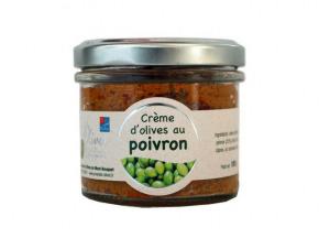 Les amandes et olives du Mont Bouquet - Crème d'olives aux poivrons 100 g