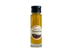 Les amandes et olives du Mont Bouquet - Huile d'olive Picholine 10 cl
