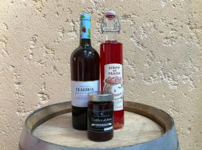Saveur d'Ornain - La Fraise : vin de fraise, confiture de fraise, sirop de fraise
