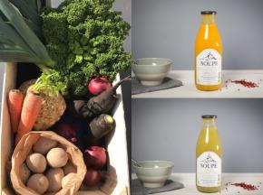 La Ferme du Polder Saint-Michel - Panier de légumes BIO le gourmet 5kg + 2 Veloutés de saison