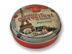 Des Lis Chocolat - Bonbons Au Coquelicot De Nemours, Boîte Fer De 40g