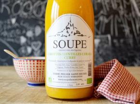 La Ferme du Polder Saint-Michel - Soupe Carotte - Lentille Corail - Curry - 1l