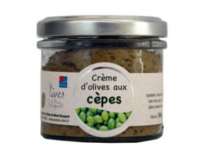 Les amandes et olives du Mont Bouquet - Crème d'olives aux cèpes 100 g