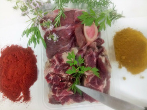 Ferme du caroire - Viande découpée pour ragoût, colombo, pot au feu, massalé, curry 3kg