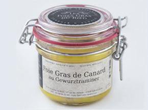 Les foies gras du Ried - Foie Gras De Canard Au Gewurtraminer - Conserve 180g
