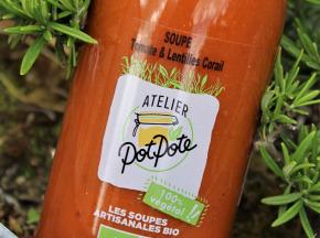Atelier PotPote - Conserverie Artisanale Bio - Soupe Tomate & Lentilles Corail 50cl Bio