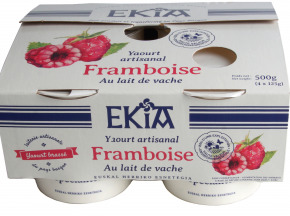 BASTIDARRA - Yaourts Brassés Framboise - 4 Pots