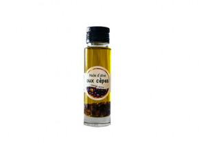 Les amandes et olives du Mont Bouquet - Huile d'olive aux cèpes 10 cl