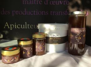 Domaine Apicole du Pillardon - Miel de France Fleurs d'été V05 (6 pots de 250 g)