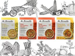 La Brouette - Pour 4 Pers. - Ecrasé De Pomme De Terre  + 2 X Dahl De Lentilles Corail + Curry Doux