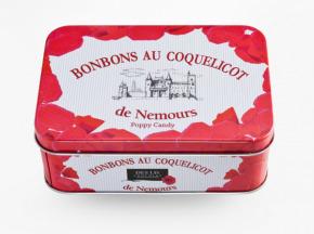 Des Lis Chocolat - Bonbons Au Coquelicot De Nemours, Boîte Fer De 160g