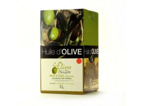 Les amandes et olives du Mont Bouquet - Huile d'olive Picholine 3 litres