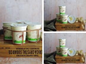 Ferme Chambon - Panier Yaourts au lait cru de vache saveur Vanille x12