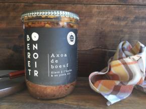 Béret Noir - Axoa de Boeuf élevé à l'herbe et en plein air - 2 Bocaux de 700g