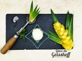 Glace du Geisshoff - Ananas Crème Glacée Fermière au Lait de Chèvre 750 ml