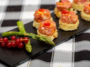 La ferme Grandvillain - Mini Galettes De Pomme De Terre Poulet Chorizo Et Emmental 6 X 15 G
