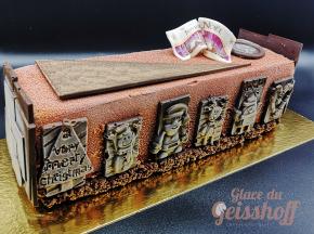 Glace du Geisshoff - Bûche de Noël Glacée Chocolat Marron Vanille La Gourmande 6/8 Pers