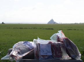 La Ferme des Obiones - PRÉCOMMANDE - Demi-agneau de Pré-Salé Élevé en Plein-air 7 kg