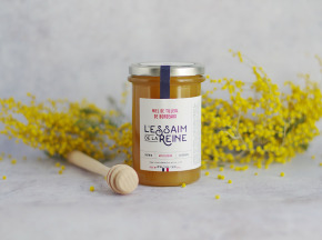L'Essaim de la Reine - Miel de Tilleul de Bordeaux - 400g - miel crémeux récolté en France par l'apiculteur