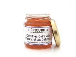 L'Epicurien - CONFIT DE CIDRE A LA POMME ET AU CALVADOS - camembert ou pont l'évêque