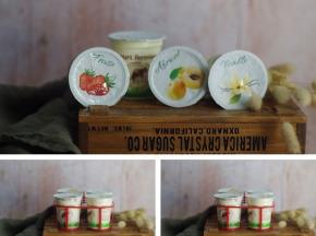 Ferme Chambon - Yaourts au Lait Cru de Vache parfums panachés: Natures x3, Vanille x3, Abricot x3, Fraise x3