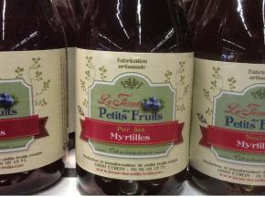 La Ferme des petits fruits - Jus de Myrtilles 25 cl