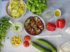 Multiproductions - Cédric Joliveau - Panier Batch Cooking Végétarien Vert - 5 plats pour 2 Personnes