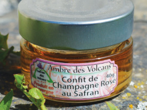 Safran des Volcans - Confit de Champagne Rosé au Safran 40g