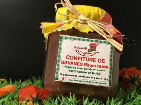 La Corbeille à Confitures - Confiture De Banane Rhum Raisin