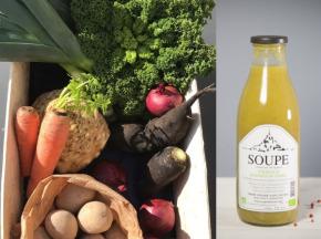 La Ferme du Polder Saint-Michel - Panier de légumes BIO le gourmet 6kg + 1 velouté de saison