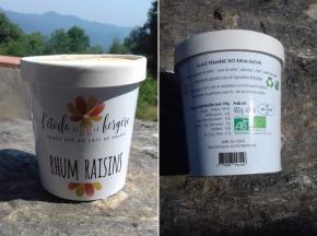 L'Etoile de la Bergère - Glace Bio Au Lait De Brebis Corse Rhum Raisins 470 Ml