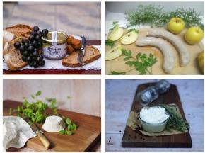 """Ferme du caroire - Panier Repas Complet """"boudins Blancs"""" : Entrée, Plat, Fromage Et Dessert (2 Personnes)"""