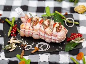 La ferme Grandvillain - Roti De Chapon Farci - Foie-gras & Figues - 1 600 G