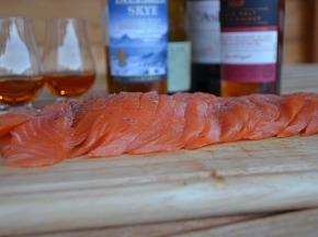 Maison Matthieu - Filet de saumon fumé tourbé - 1kg - Ecosse