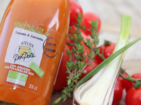 Atelier PotPote - Conserverie Artisanale Bio - Gazpacho Tomate & Sarriette Bio 25cl
