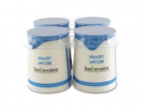 BEILLEVAIRE - Lot de 4 Yaourts Nature lait entier