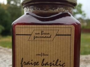 Un brun gourmand - Confiture De Fraise Basilic