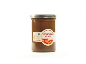 Les amandes et olives du Mont Bouquet - Amandise 200gr – Pâte à tartiner au chocolat et éclats d'amandes