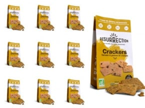 Crackers Résurrection - Lot de 10 sachets de crackers Sarrasin & Graines de Courges