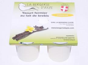 La Bergerie d'Ayze - Yaourts de Brebis Fermiers à la Vanille x 4