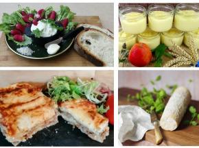 """Ferme du caroire - Panier repas complet """"les pieds sous la table"""" : entrée, plat, fromage et dessert (4 personnes)"""