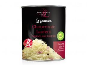 André Laurent - La Fameuse Choucroute Laurent Cuisinée Aux Lardons - Lot De 12 Boites De 400g