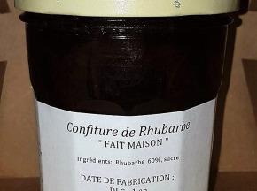 Au bon Jardinet - Confiture De Rhubarbe Faite Maison
